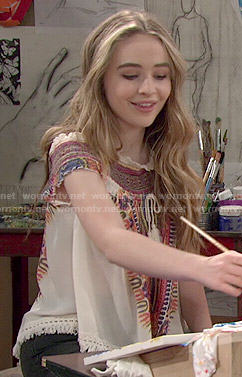 Maya's embroidered top on Girl Meets World
