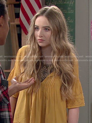 Maya's yellow peasant top on Girl Meets World