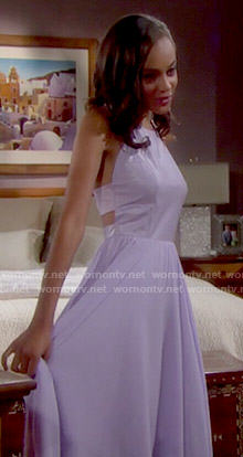 Nicole's lavender leather top gown on The Bold and the Beautiful