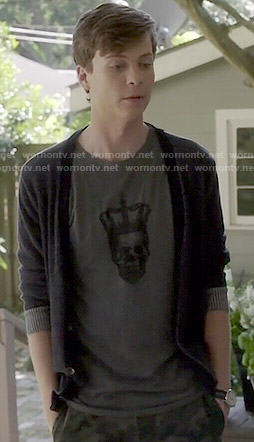 Noah's skull tee on Scream
