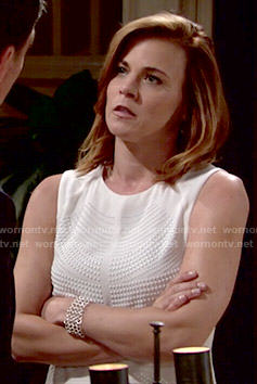 Wornontv Phyllis S White Studded Top On The Young And The