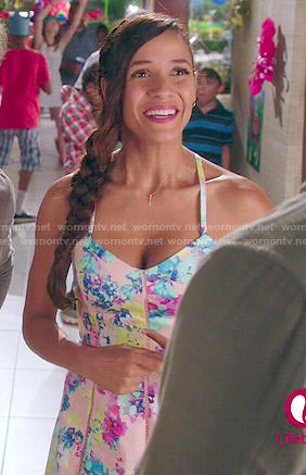 Roslie's floral dress on Devious Maids