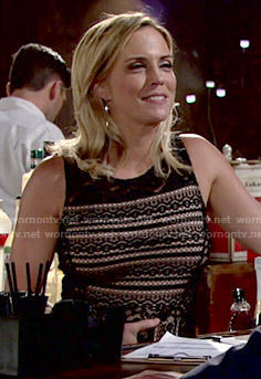 Sage's black lace dress on The Young and the Restless