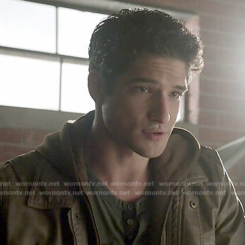 Scott's brown leather jacket on Teen Wolf