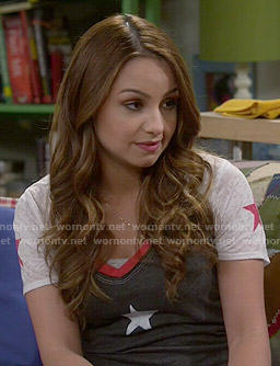 Sofia's star tee on Young and Hungry