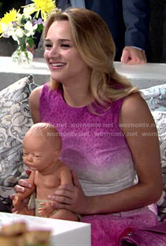 Summer's pink ombre dress on The Young and the Restless