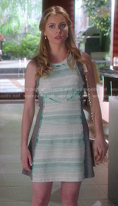 Taylor's green tweed dress on Devious Maids