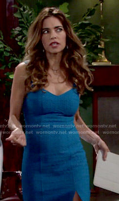 Victoria's blue eyelet dress on The Young and the Restless