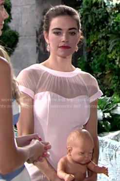 Victoria's pink illusion dress on The Young and the Restless