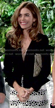 Victoria's striped lace skirt on The Young and the Restless