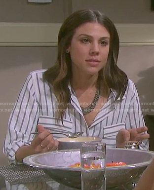 Abigail's striped shirt on Days of our Lives
