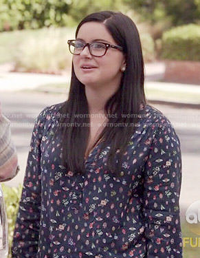 Alex's blue bug print top on Modern Family