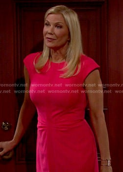 Brooke's coral dress on The Bold and the Beautiful