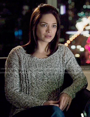 Cat's marled sweater on Beauty and the Beast