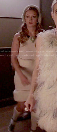 Chanel 3's fur trim top and skirt set on Scream Queens