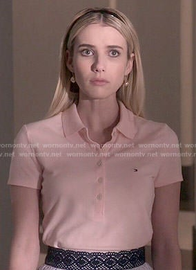 Chanel's pink polo shirt on Scream Queens