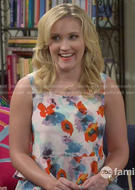 Gabi's floral ruffle hem top on Young and Hungry