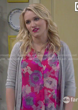 Gabi's pink floral top on Young and Hungry
