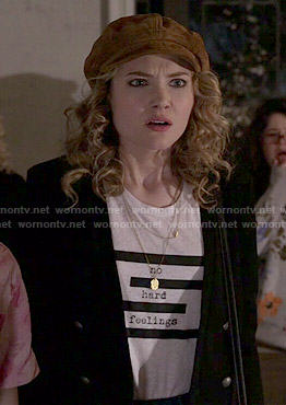 Grace's No Hard Feelings top on Scream Queens