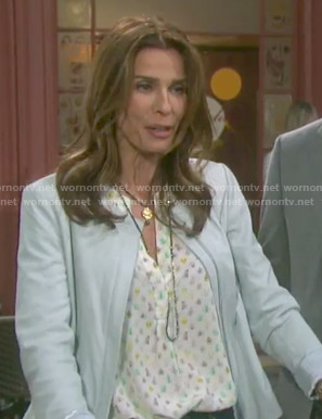 Hope's bug print top on Days of our Lives