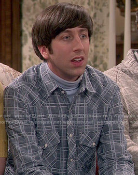 Howard's blue plaid shirt on The Big Bang Theory