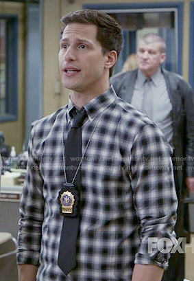 Jake's checked shirt on Brooklyn Nine-Nine