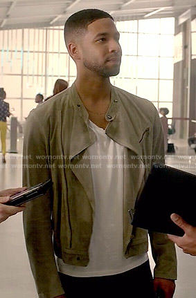 Jamal's suede jacket on Empire