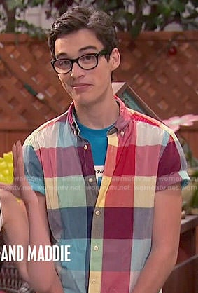 Joey's multi colored checked shirt on Liv and Maddie