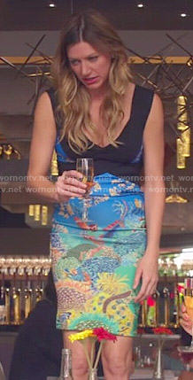 Josslyn's underwater print dress on Mistresses