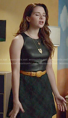 Karma's leather and plaid dress on Faking It