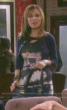 Kate's tie dyed dress on Days of our Lives