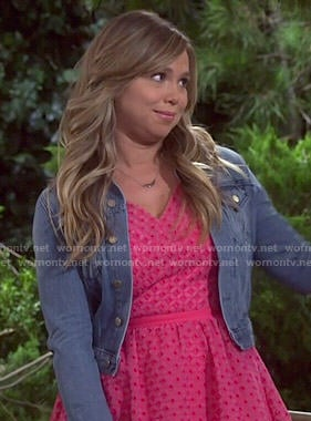 Kristen's pink eyelet dress on Last Man Standing