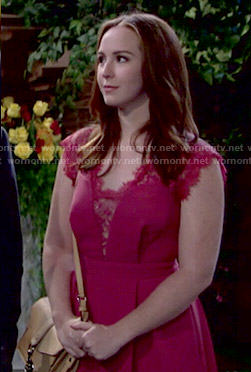 Mariah's pink lace dress on The Young and the Restless
