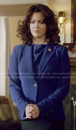 Mellie's blue blazer on Scandal