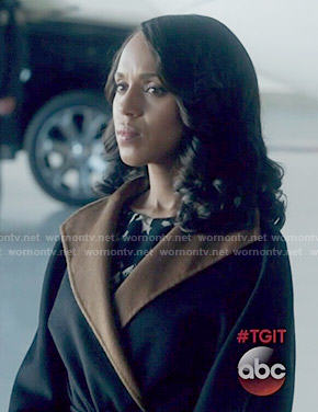 Olivia's two-tone coat on Scandal
