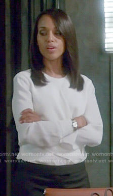 Olivia's white blouse on Scandal