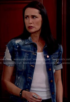 Quinn's short sleeved denim jacket on The Bold and the Beautiful