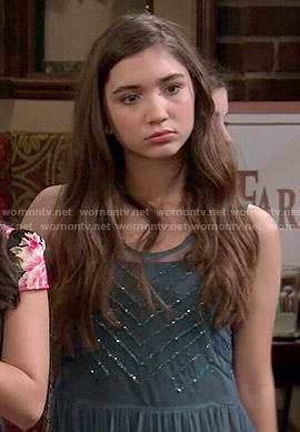 Riley's teal embellished dress on Girl Meets World