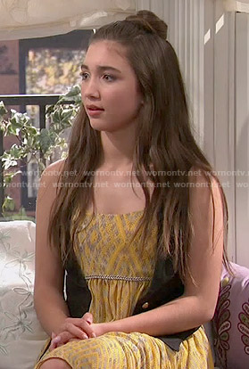 Wornontv Riley S Yellow Dress On Girl Meets World Rowan