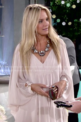 Sharon's blush baby shower dress on The Young and the Restless