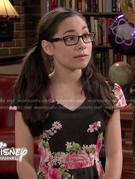 Smackle's black and pink floral dress on Girl Meets World