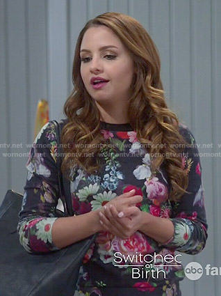 Sofia's floral sweater on Young and Hungry