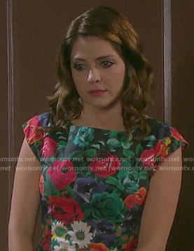 Theresa's floral dress on Days of our Lives