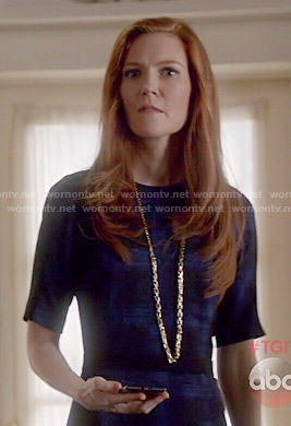 Abby's black and blue checked dress on Scandal