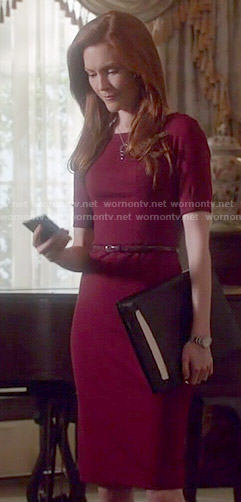 Abby's burgundy dress on Scandal