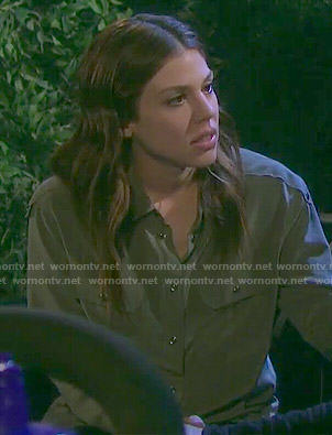 Abigail's khaki shirt on Days of our Lives