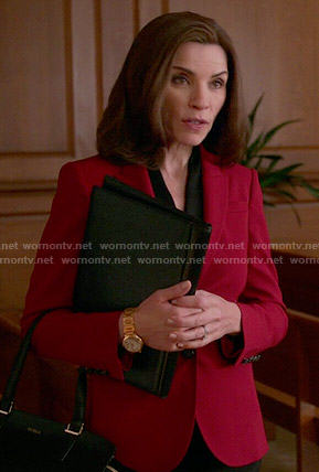 Alicia's red blazer on The Good Wife