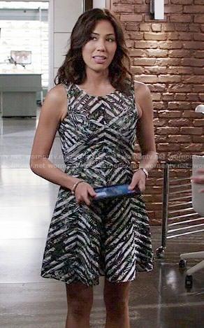 Angela's mesh striped dress on Bones