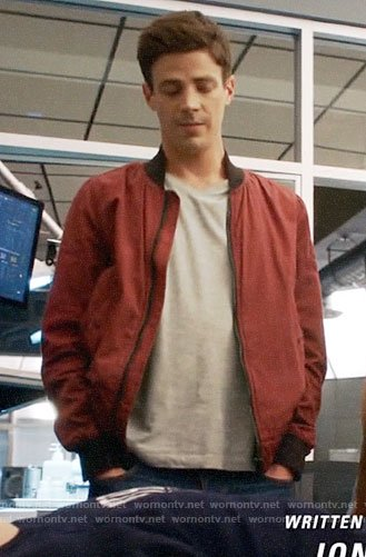 Barry's red bomber jacket on The Flash