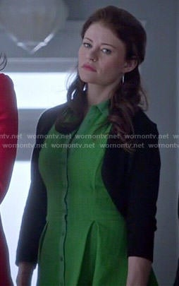 Belle's green textured shirtdress on Once Upon a Time